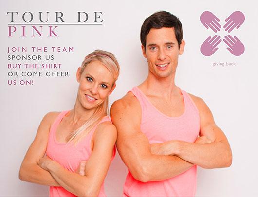 DEFINE body's Tour de Pink Postcard