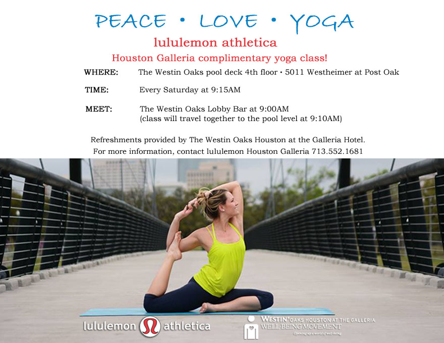 Complimentary Yoga Classes With Define And Lululemon Athletica Define River Oaks Houston