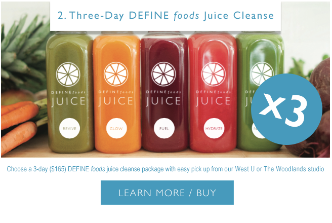 Introducing DEFINE foods Winter Cleanse Packages - DEFINE
